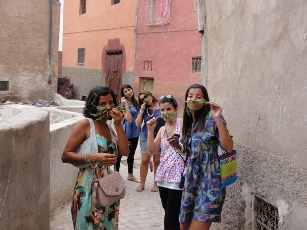 Fábrica de couro em marrakech