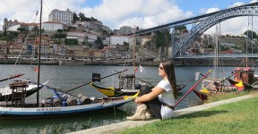 Cais de Vila Nova de gaia, no Porto