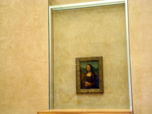 Decepções de viagem no Louvre, Monalisa
