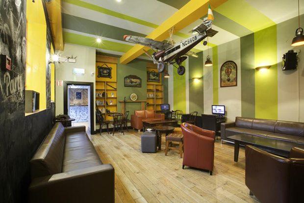 Hostel en Dublin Sky Backpackers. Ótima localização e custo x benefícil