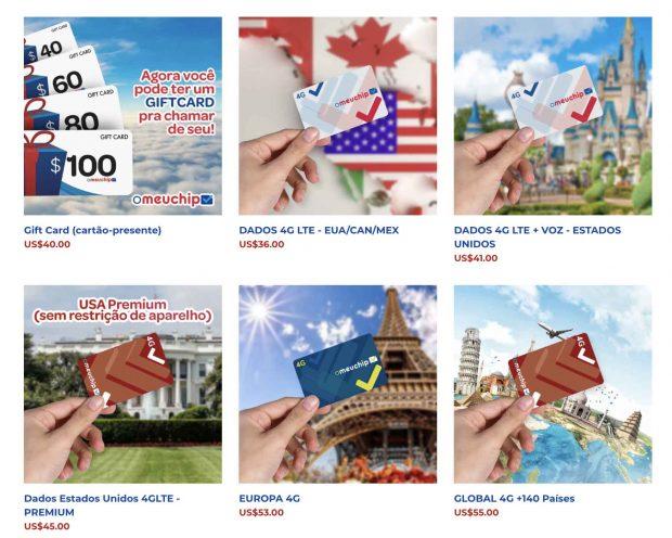 preço Chip internacional para internet no exterior