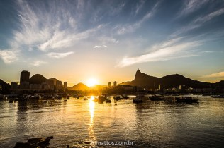 pôr do sol na Urca