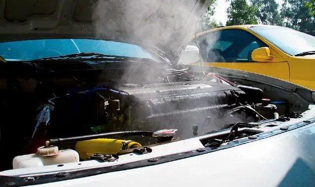 overheating car