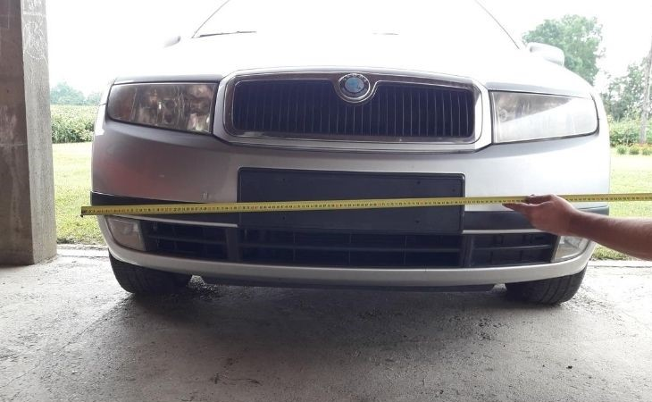 measure-front-bumper-for-license-plate