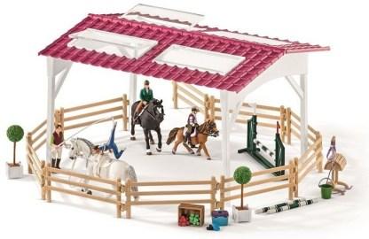 Ruiterschool met ruiter en paarden Schleich (42389)
