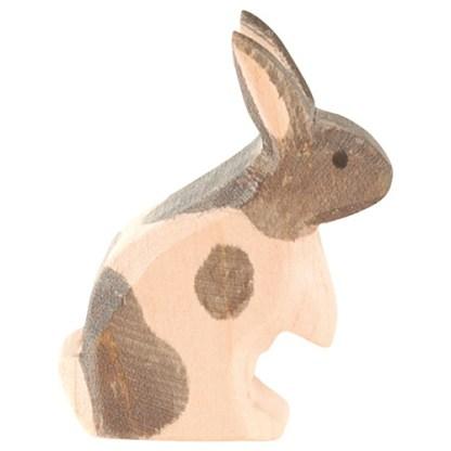 Ostheimer konijn zwart-wit staand