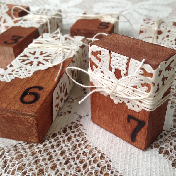DIY Wedding Table Numbers for Walnut Hollow