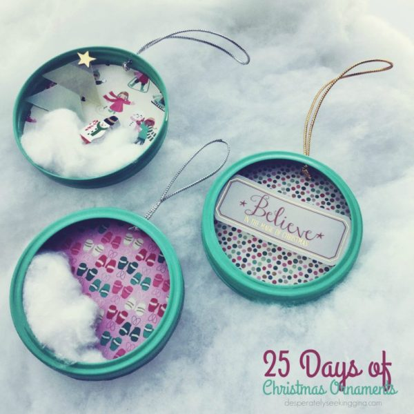 25 Days of Ornaments: Canning Jar Rings