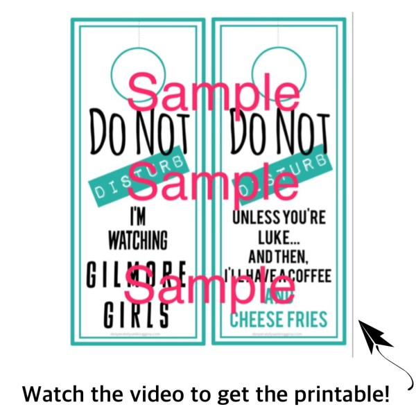 Gilmore Girls Printable Doorhanger