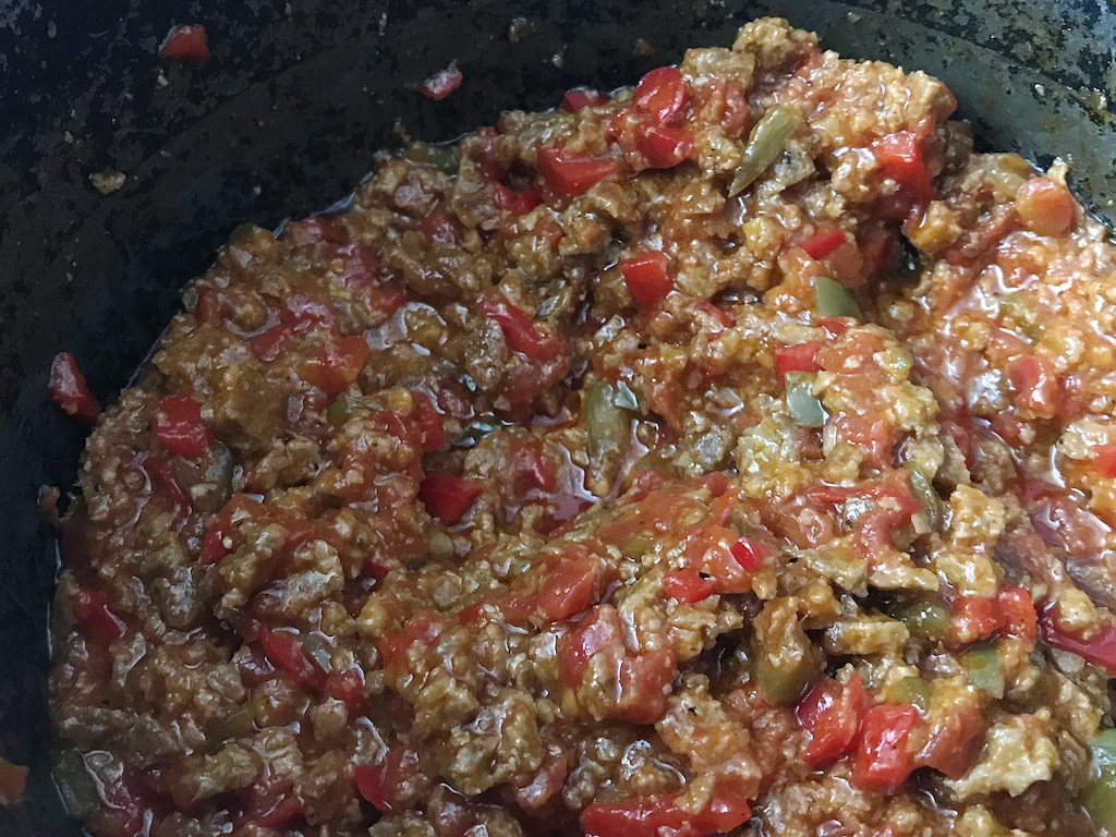 Vegetarian Sloppy Joe Recipe for two makes weeknight cooking easy for vegetarians so they can enjoy a meatless, protein packed meal.