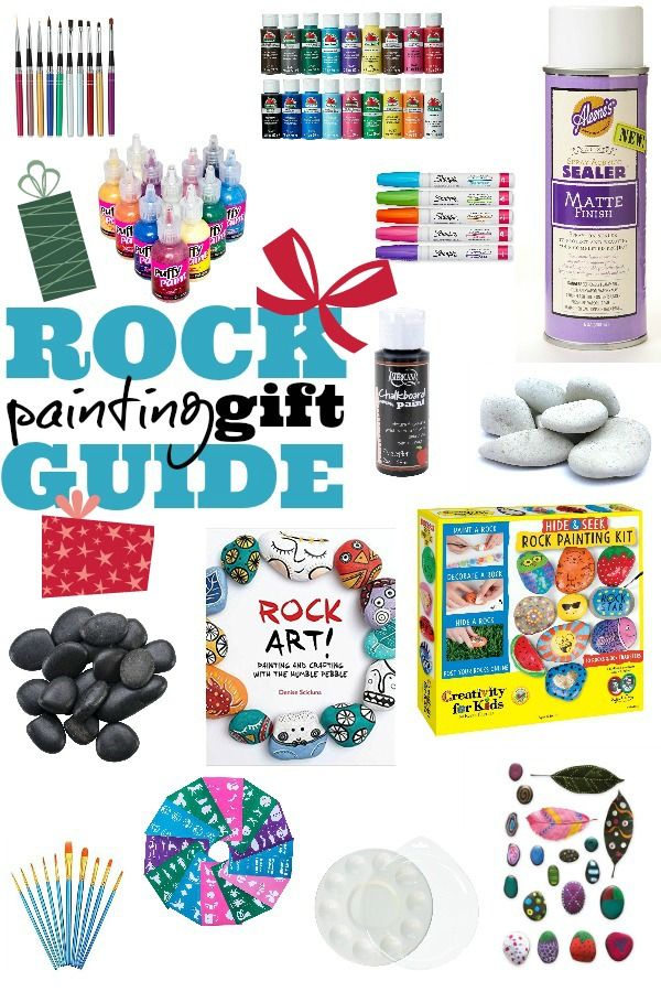 Best supplies and rock painting gift guide for beginner rock painters.