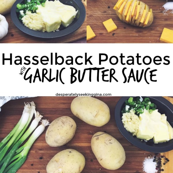 Hasselback Potatoes with Garlic Butter Sauce