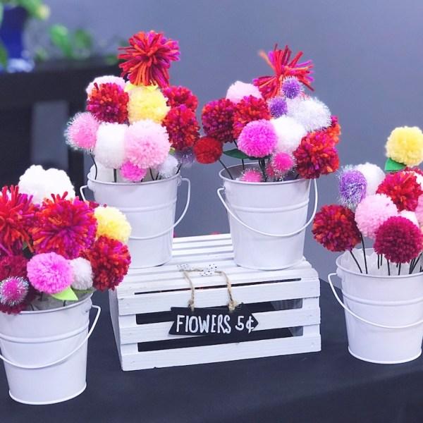 PomPom Flower Bouquets