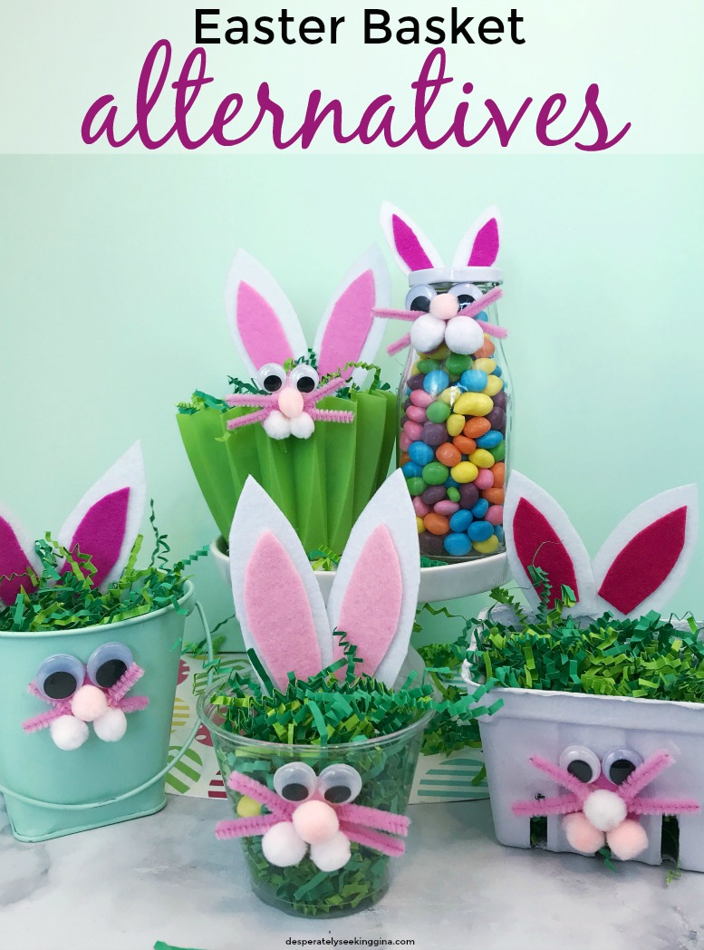 DIY Easter basket alternatives that are fun and easy to make for Easter gift giving.