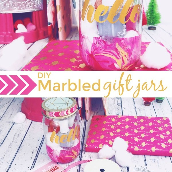 DIY Marbled Gift Jars You Will Love to Give