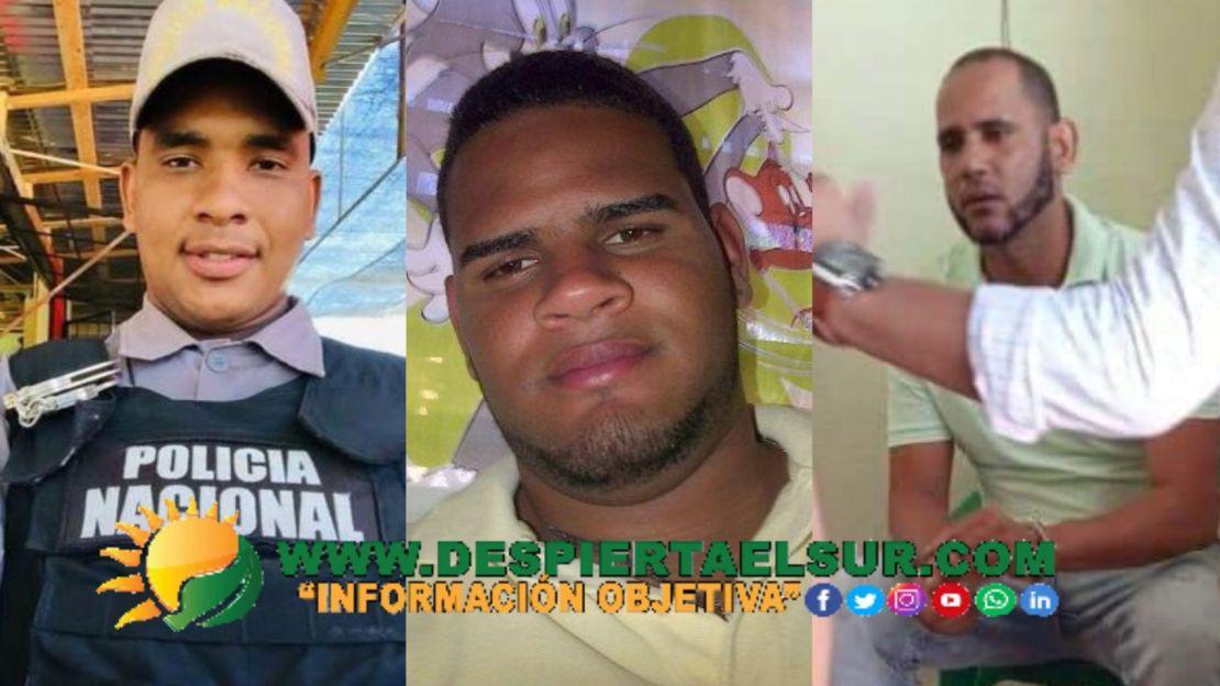 La fotografía del Primero corresponde al Raso PN, Joel Canario Alcántara, el segundo a Johan Grabiel García Herrera y el tercero, el mayor de la DNCDRamón Mercedes Cabrera
