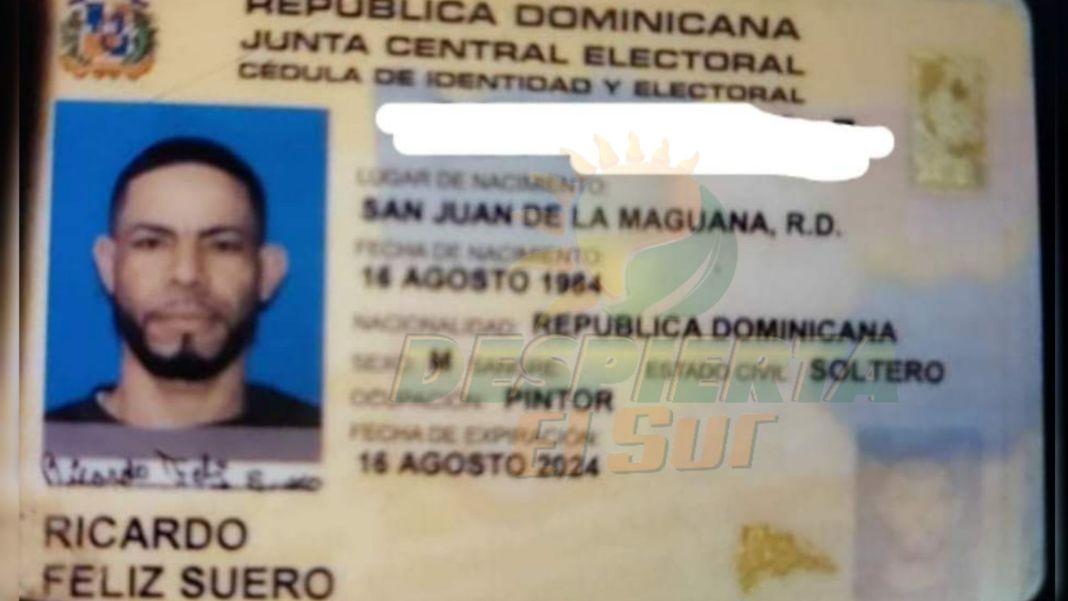 Cédula Ricardo Feliz Suero
