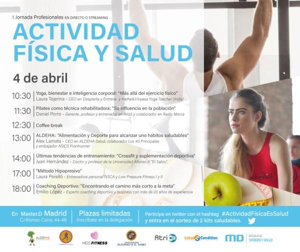 I Jornada Actividad Física y Salud MasterD – Blog Despierta y Entrena