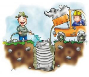 Montaj fosa septica ecologica - cum umplu cu apa fosa www.desprefose.ro