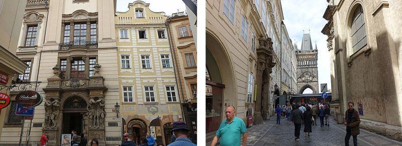 Prague Stare Mesto Détails de la rue Carlova