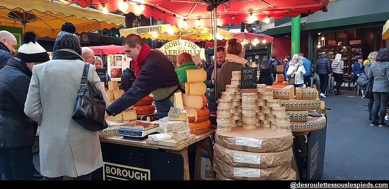 Borough Market vente de fromages