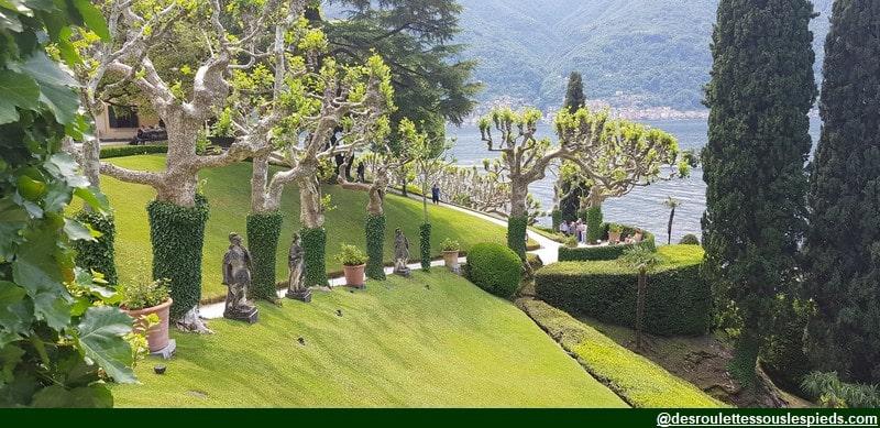 lac de côme vue sur le jardin