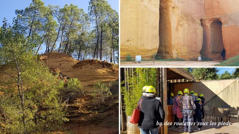 la route des ocres visite guidée mines de bruoux