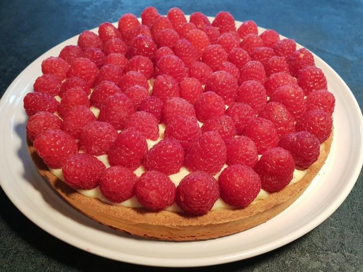 Recipe pastry raspberry tarte framboises Recette  pastry cream