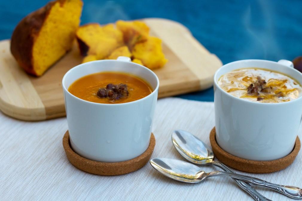 butternut squash, recipe, soup, chestnut, chataignes, soupe, recette, courge