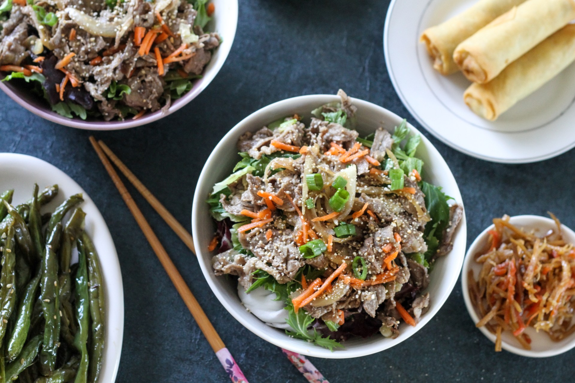 beef salad recipe with roasted rice