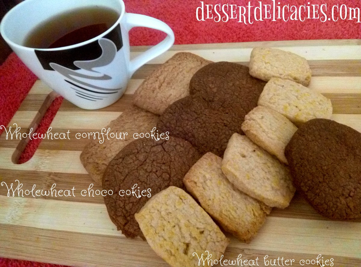 Whole wheat butter cookie platter