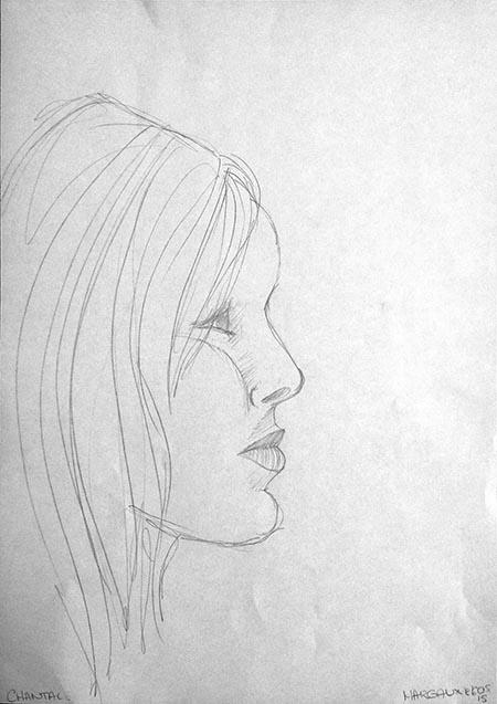 Portrait de Chantal, par Margaux, le lundi 16 février 2015.