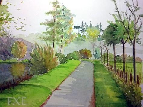 Aquarelle d'un 3e paysage, finalisé, par François-Xavier Esambert.