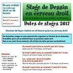 Stages dessin en cerveau droit pour 2017