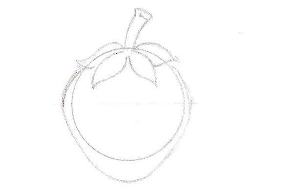 détail du dessin d'une fraise