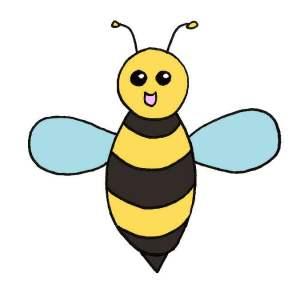 Coloriage de la 2ème abeille