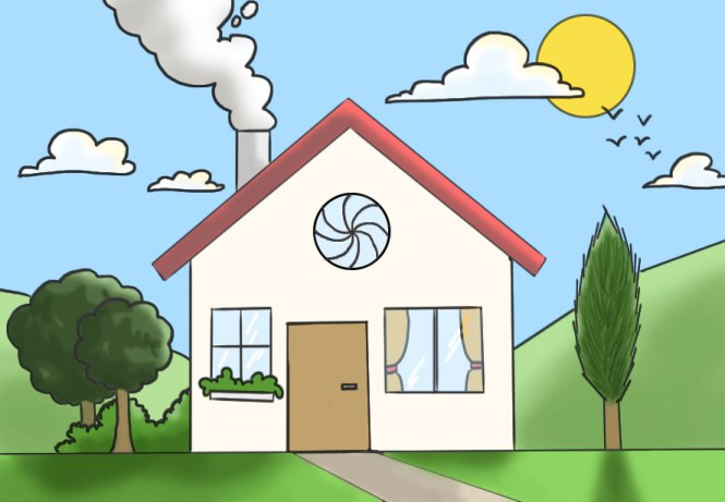 Coloriage du dessin de maison