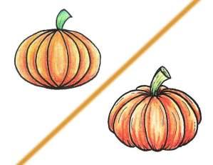 Read more about the article Deux façons simples pour dessiner une citrouille