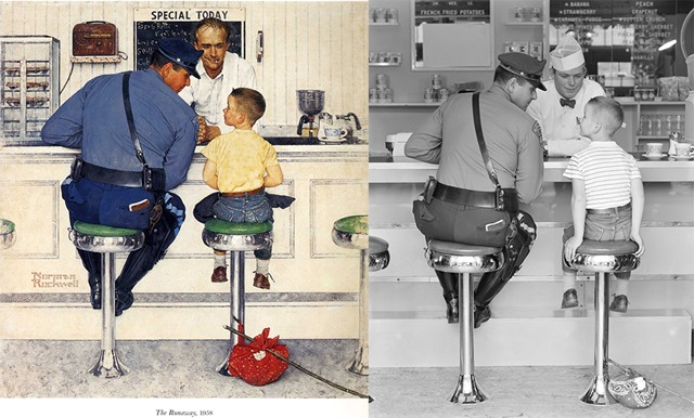 the runaway 1958 norman rockwell