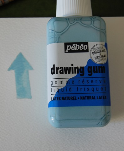 Appliquer drawing gum
