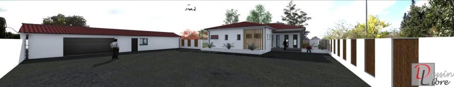 Maison Moderne de 202,78 m² de Plain Pied - FAUGA (31)