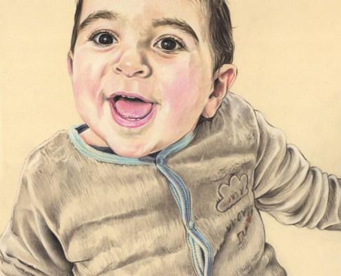 portrait-dessin-d-après-photo-bébé-petit-garçon-3