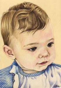 portrait-dessin-d-après-photo-bébé-petite-fille-2
