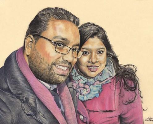 portrait-dessin-d-après-photo-couple-2