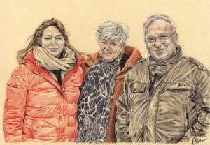 portrait-dessin-d'après-photo-famille-grands-parents-et-petite-fille