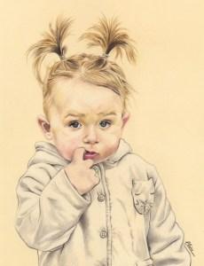 portrait-dessin-d-après-photo-enfant-petite-fille-1