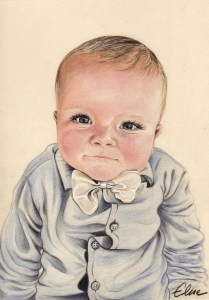 portrait-dessin-d-après-photo-bébé-petit-garçon