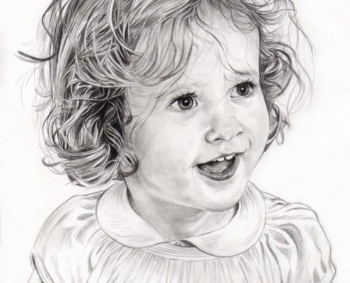 Dessin Petite Fille Noir Et Blanc