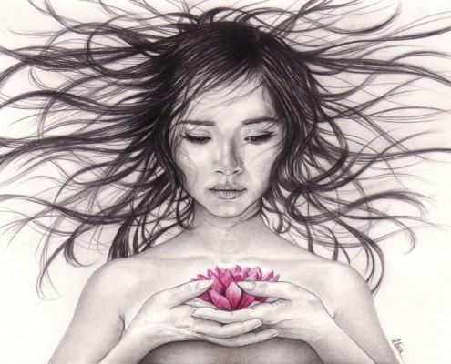 Les dessins d lise artiste portraitiste professionnelle - Dessin de jeune fille ...