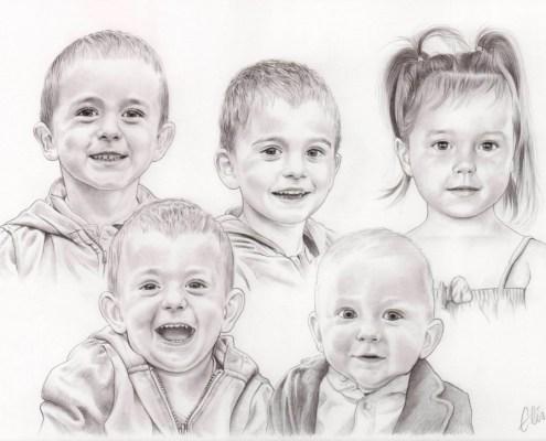 Commandez Un Portrait Dessin De Votre Enfant Ou Bébé Daprès